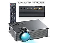 SceneLights LCD-LED-Beamer LB-8300.wl, SVGA, Miracast, DLNA & AirPlay, 800 x 480