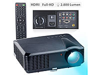 SceneLights LED-LCD-Beamer LB-9300 V2 mit Media-Player, 1280 x 800 (HD), 2.800 lm
