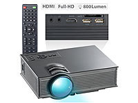 SceneLights SVGA-LCD-LED-Beamer LB-8300.mp mit Mediaplayer, 800 x 480 Pixel